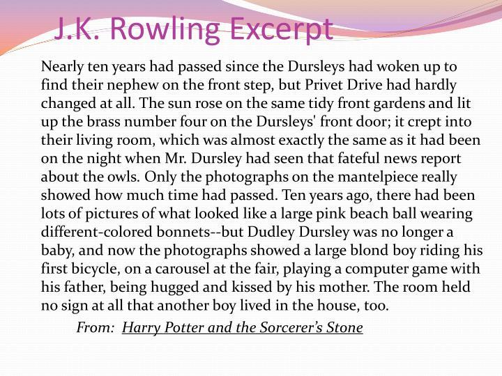 J.K. Rowling Excerpt