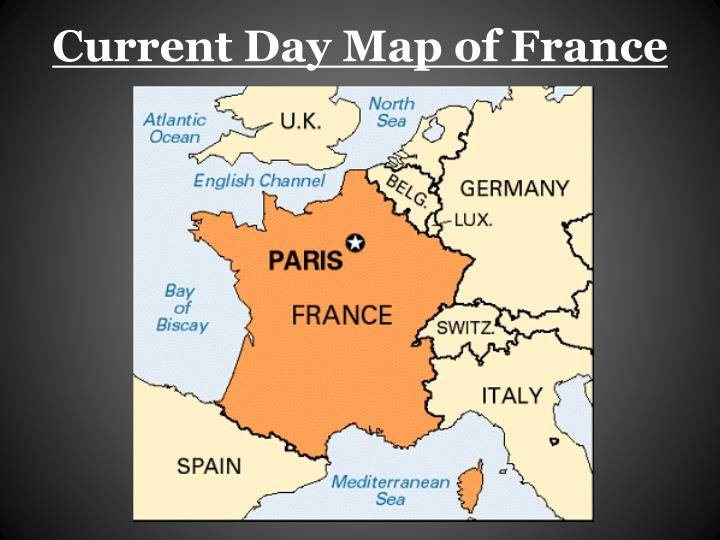 Current day map of france