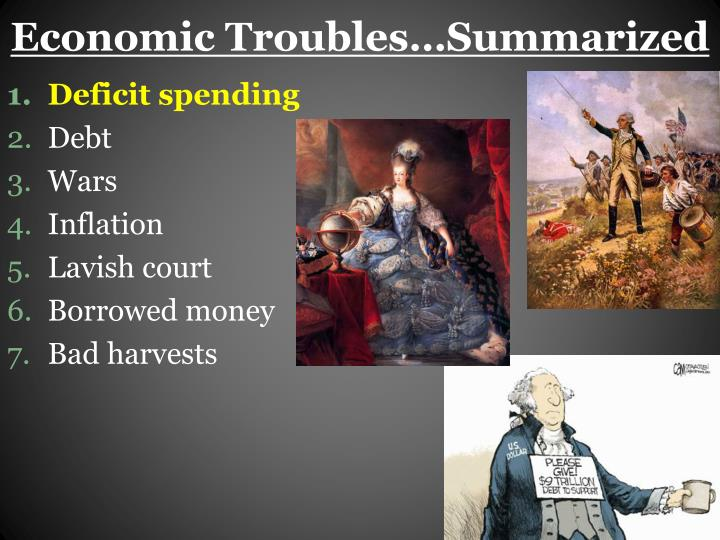 Economic Troubles…Summarized