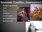 economic troubles summarized