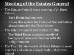 meeting of the estates general