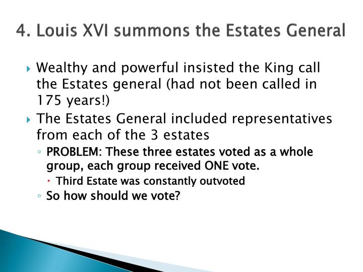 4. Louis XVI summons the Estates General