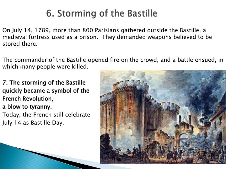 6. Storming of the Bastille
