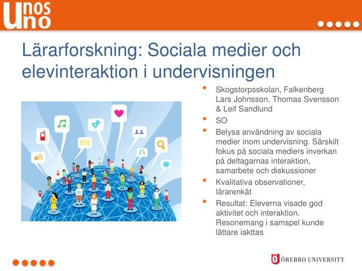 Lärarforskning: Sociala medier och elevinteraktion i undervisningen