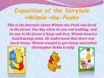exposition of the fairytale winnie the pooh