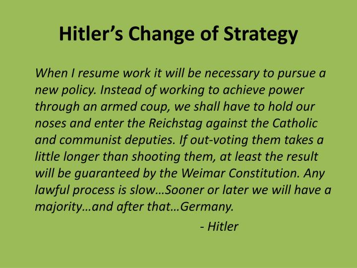 Hitler's Change of Strategy