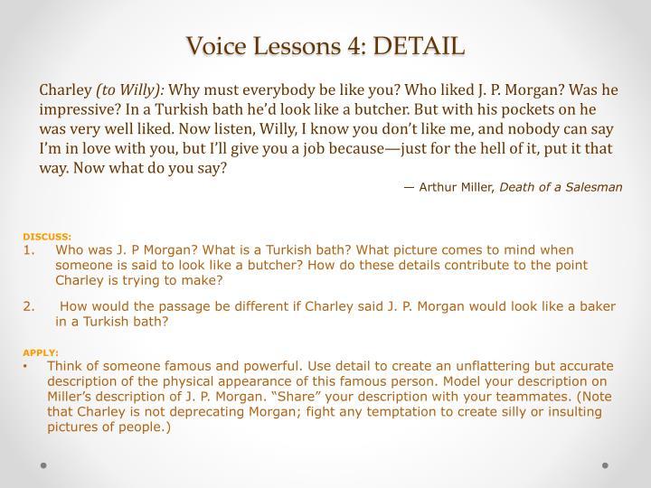 Voice Lessons 4: DETAIL