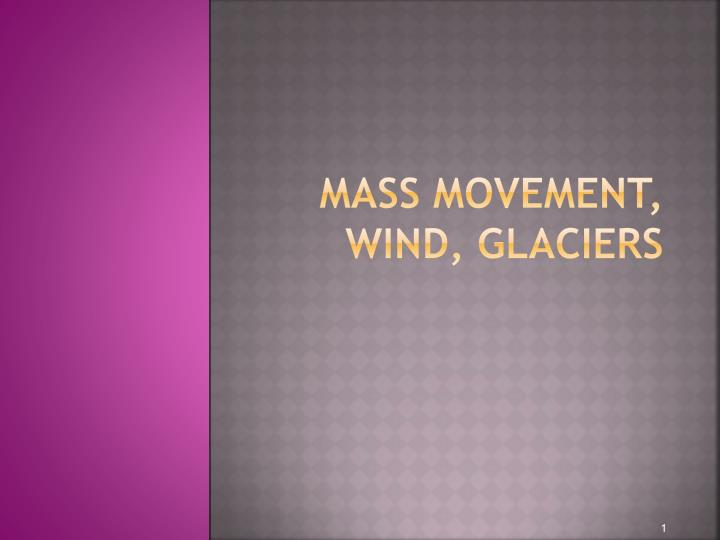 Mass movement wind glaciers