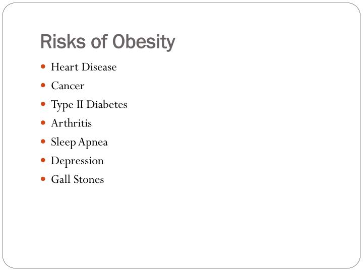 Risks of Obesity