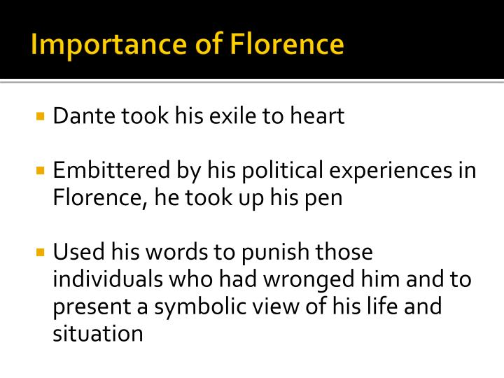 Importance of Florence