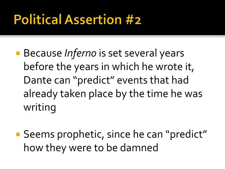 Political Assertion #2
