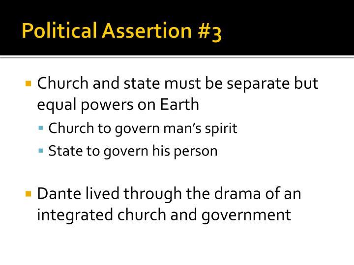 Political Assertion #3