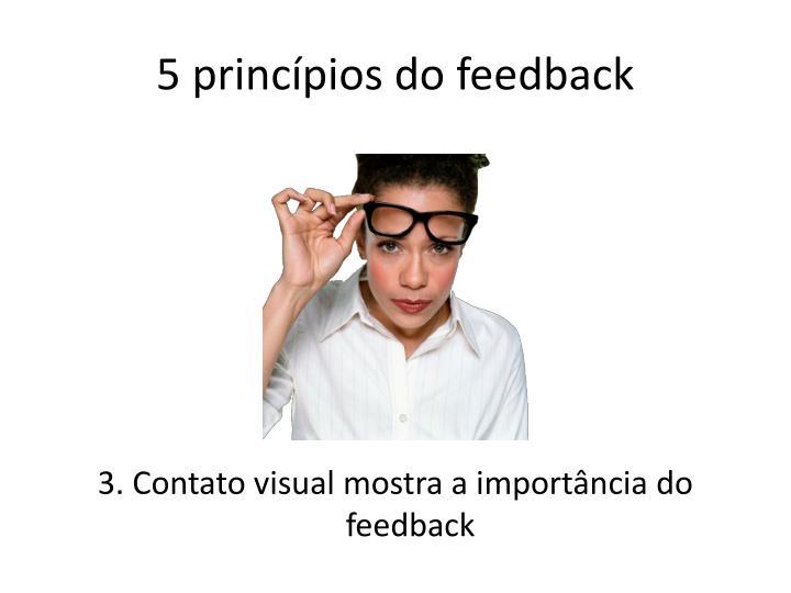 5 princípios do feedback
