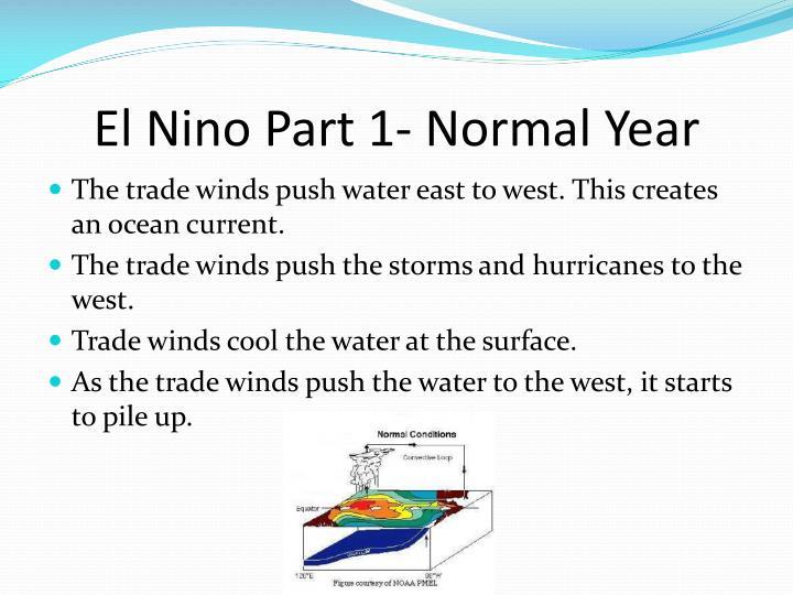 El Nino Part 1- Normal Year
