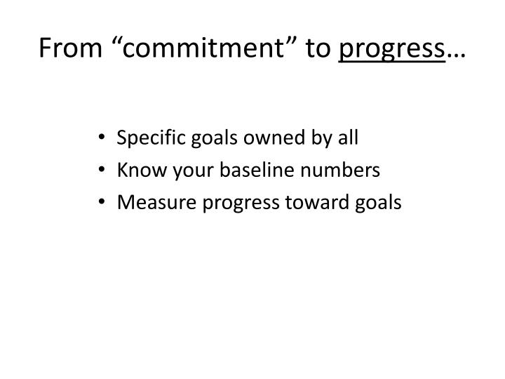 """From """"commitment"""" to"""