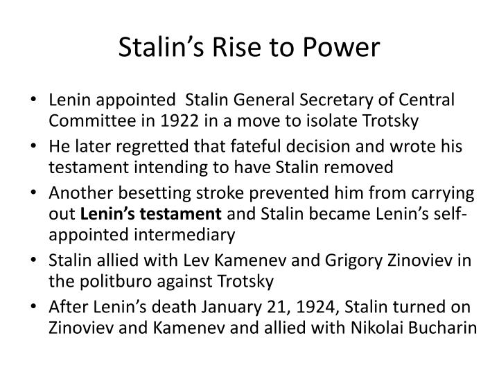 stalins cunning rise to power and the defeat of trotsky