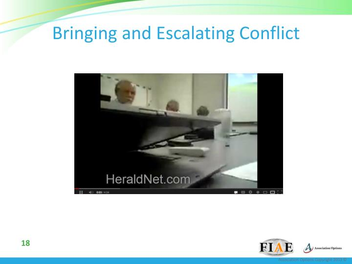 Bringing and Escalating Conflict