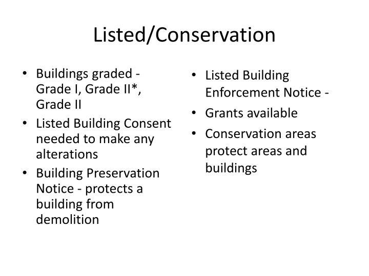 Buildings graded - Grade I, Grade II*, Grade II
