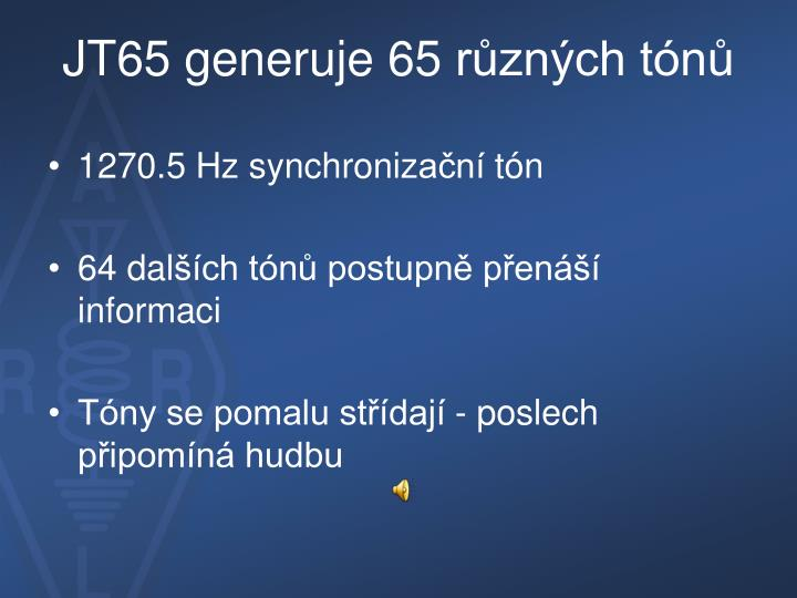 JT65 generuje