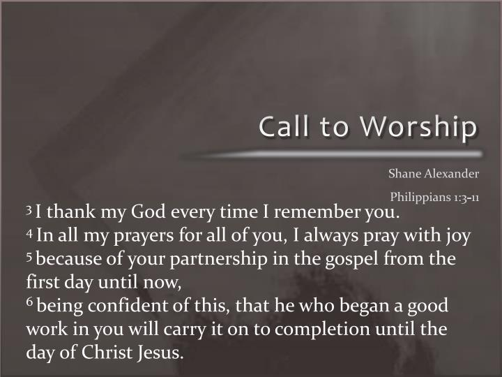 Call to Worship