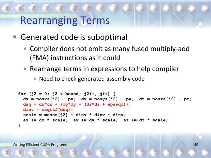 Rearranging Terms