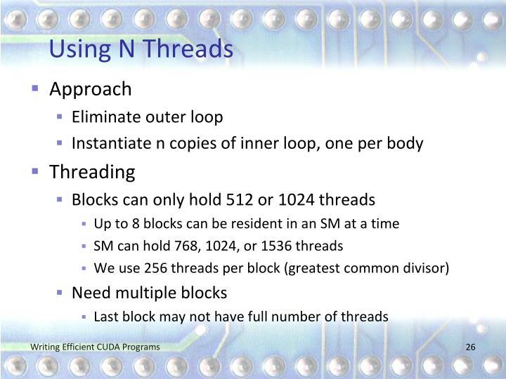 Using N Threads