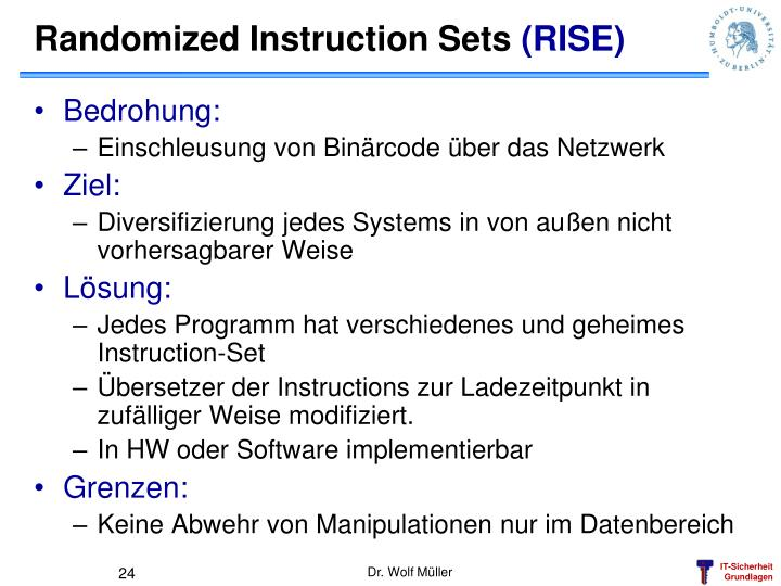 Randomized Instruction Sets