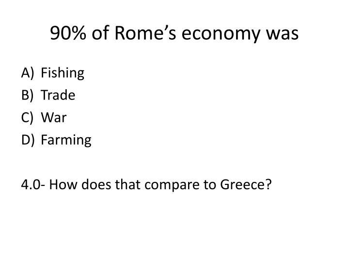 90% of Rome's economy was
