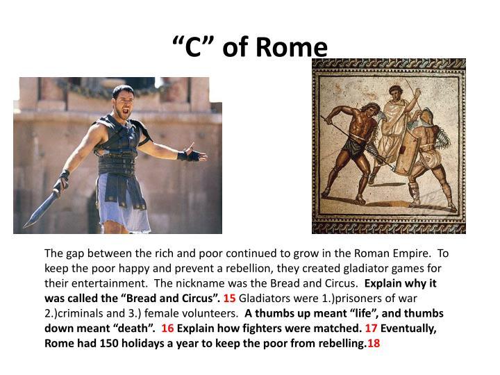 """""""C"""" of Rome"""