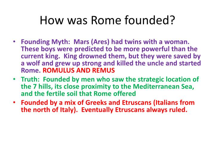 How was Rome founded?