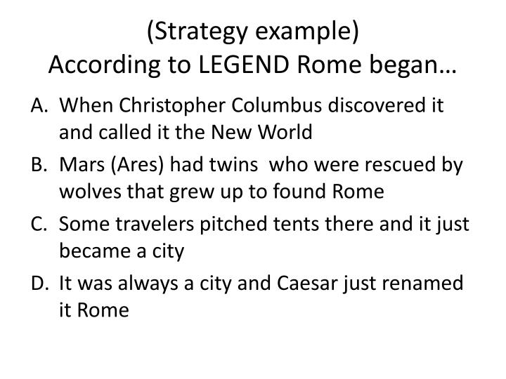 (Strategy example)