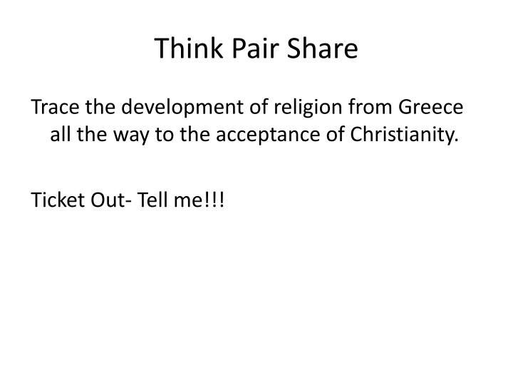 Think Pair Share