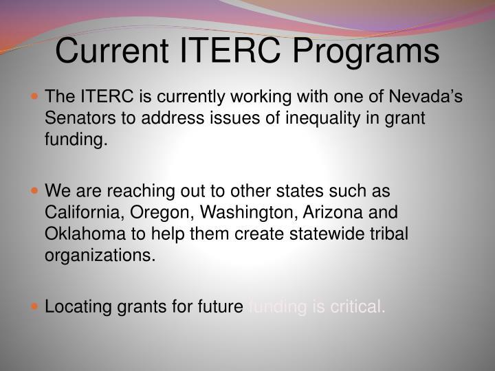Current ITERC Programs