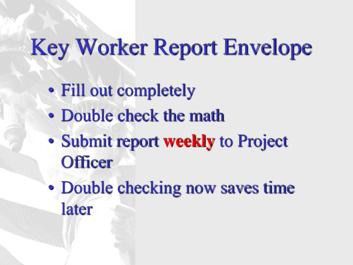 Key Worker Report Envelope