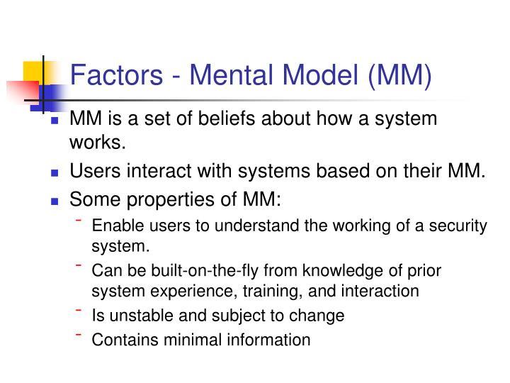 Factors - Mental Model (MM)
