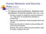 human behavior and security risks con t2