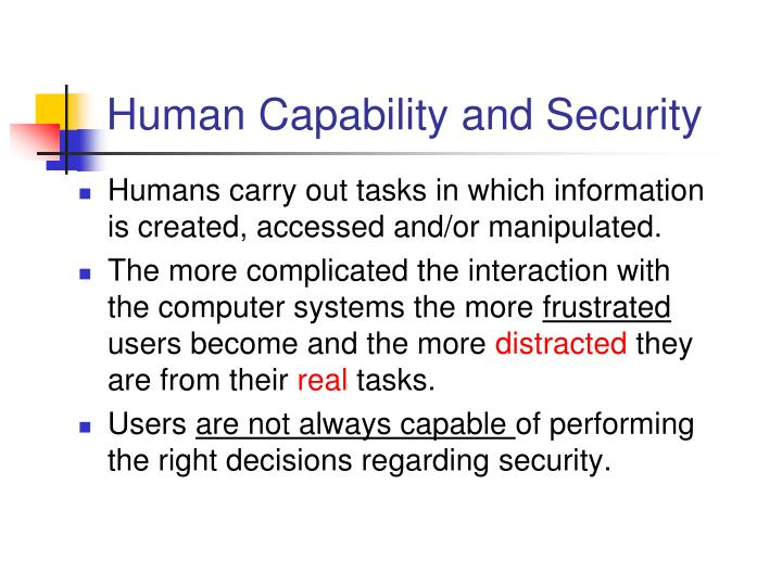 Human Capability and Security