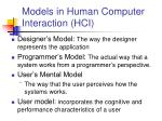 models in human computer interaction hci