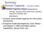 summary human capacity cognition model