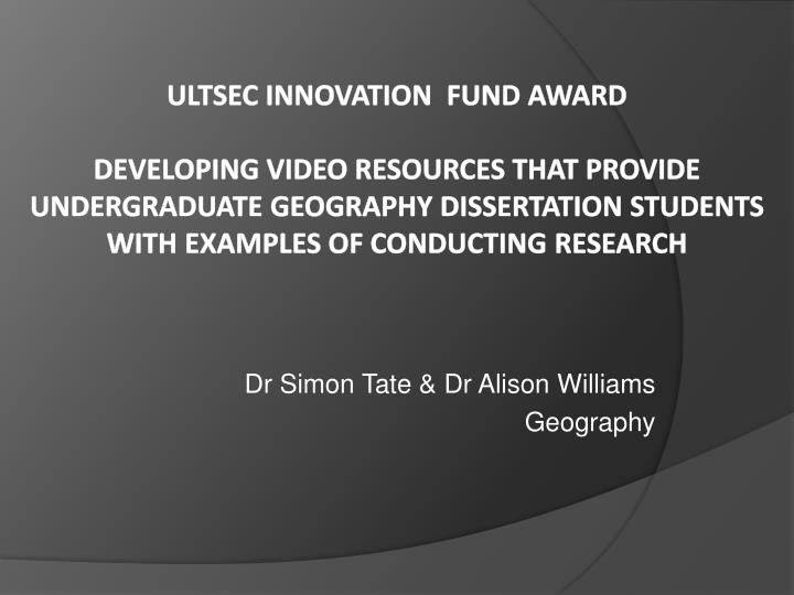 geography dissertation funding