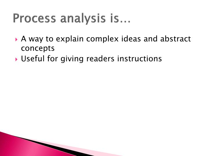 Process analysis is…