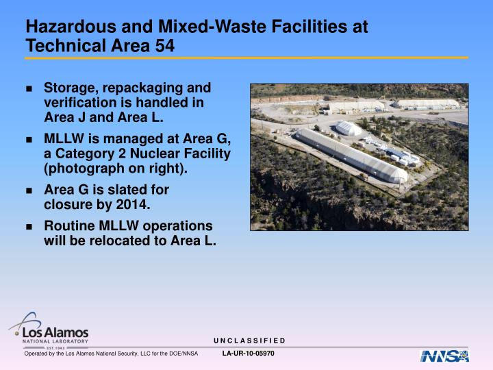 Hazardous and mixed waste facilities at technical area 54