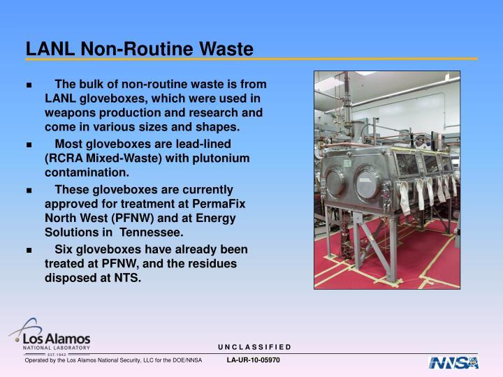 LANL Non-Routine Waste