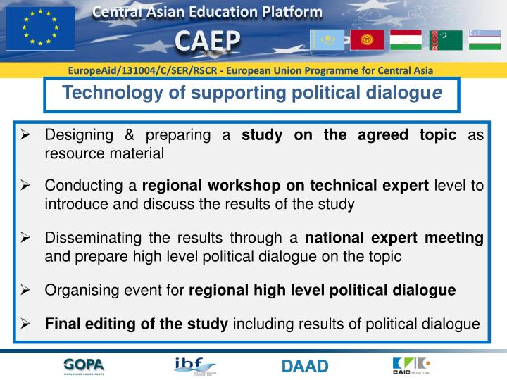 Technology of supporting political dialogu