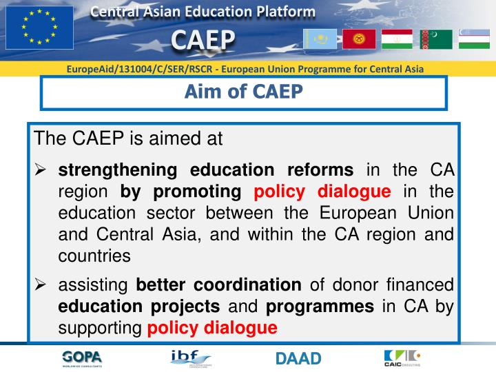 Aim of CAEP