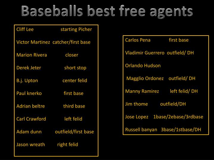 Baseballs best free agents