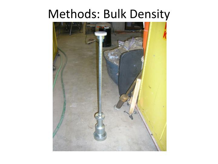 Methods: Bulk Density