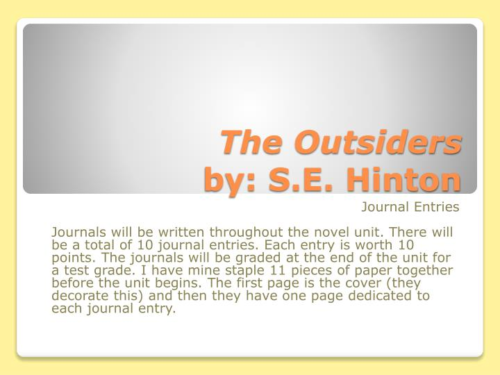 The outsiders by s e hinton