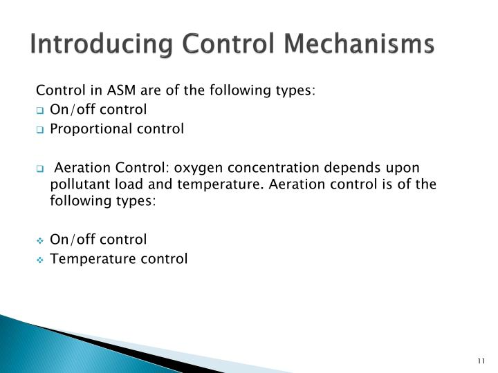 Introducing Control Mechanisms
