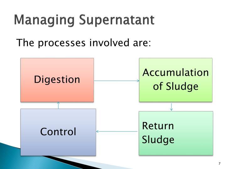 Managing Supernatant